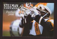 Stillman Tigers--2000 Football Postcard Schedule