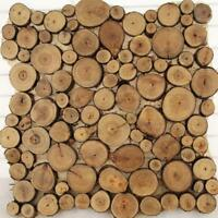 100pcs Natural Pine Wood Slices Round Disc Tree Bark Chips Circle Decor Craft