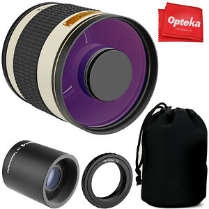 Opteka 500mm/1000mm f6.3 Telephoto Lens for Nikon D7500 D7200 D7100 D7000 D5600