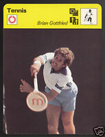 BRIAN GOTTFRIED American Tennis Player Photo 1978 SPORTSCASTER CARD 27-12A