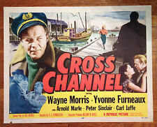 """CROSS CHANNEL"" Vintage Movie POSTER 28"" X 22"" Wayne Morris Yvonne Furneaux"