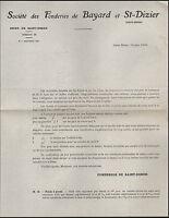 SAINT-DIZIER (52) USINE FONDERIE de BAYARD & SAINT-DIZIER en 1926