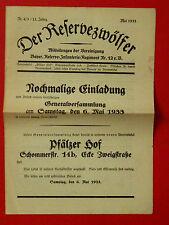 alte Zeitung Der RESERVEZWÖLFER 12er Infanterie Reg. Nr. 4/5 von 1933 ( 3734