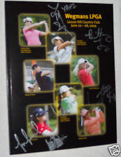 Michelle Wie signed autographed LPGA program COA +6more