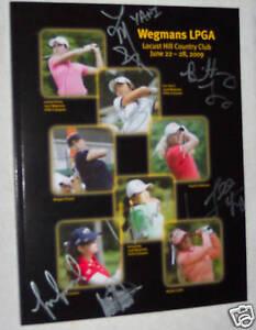 Michelle Wie signed autographed LPGA program COA +6more