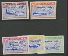 Guernsey SARK 1966 Europa imperf PROOFS unissued cols
