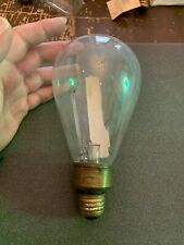 Antique circa 1904 Large Carbon Filament Light Bulb Tipped