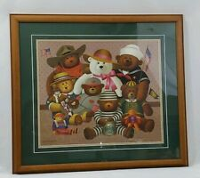 Charles Wysocki 4th of July Bears Print Signed Professionally Framed Patriotic