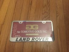 New - Land Rover Laser Etched Stainless Steel License Plate Frame LF-LAN-EC