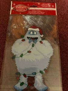 RUDOLPH RED-NOSED REINDEER WINDOW CLING IMAGE ON BOTH SIDES, ABDOMINAL SNOWMAN,