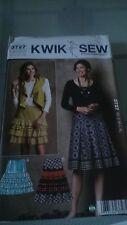 Kwik Sew 3727 misses's faldas patrón de costura-libre de Reino Unido P&p - nos