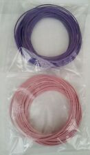 10m Violet 10m Pink Solid Core 1/0.6mm Hookup Wire - Breadboard Arduino Projects