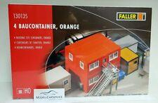 Faller 1/87 (H0): 130135 4 Building Container, Orange - Kit