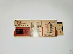 Rare Cocktail Mixing Guide Slide Chart Card  Advertising 1964