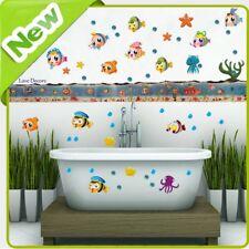 Animal Wall Stickers Fish Jungle Zoo Ocean Bathroom Nursery Kids Room Decal Art