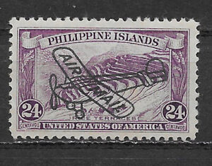 PHILIPPINES , 1933 , AIRMAIL OVERPRINTED , 24c STAMP , PERF , VLH