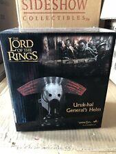 Sideshow Weta LOTR Uruk-Hai  General's Helm NIB RARE Lord Of The Rings