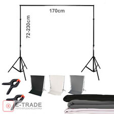 Mount system + 3x BACKDROP photo studio background: 2x Studio stand + crossbar