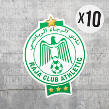 (10) Raja Club Athletic Casablanca Morocco Vinyl Sticker Decal Football Soccer