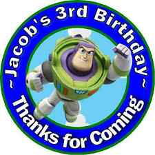 TOY STORY BUZZ BIRTHDAY THANK YOU FOR COMING TO MY PARTY STICKERS FAVORS