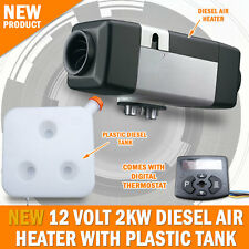 NEW 12 VOLT 2KW Diesel Air Heater Tank Caravan Motorhome RV Planer Camp Trailer