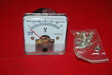 DC 0-12V Analog Voltmeter Analogue Voltage panel meter 50*50mm directly Connect