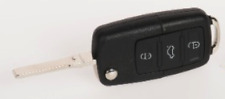 Flip Key Shell for VW – 3 Button, HU66 - VWT5/Golf/Polo/Audi/Skoda cut to photo