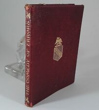 """""""The Comedy Of Errors"""" by William Shakespeare. Red Leather Copyright April 1910"""
