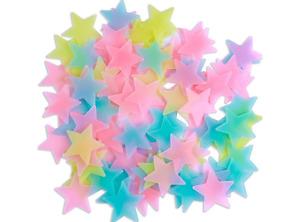 100 Glow In The Dark Stars Stickers Baby Kids Nursery Bed Room Wall Ceiling UK