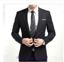 Mens Slim Fit Formal Party Wedding One-button Lapel Suits Jacket Pant Tie Sets