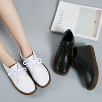 Large Size Womens Ankle Boots Comfort Real Leather Minimaliast Flat Loafers Shoe