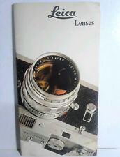 Leitz Leica Lenses Brochure Booklet Printed in Germany 1969 RARE