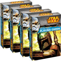 4 Deck Set Boba Fett Playing Cards By Cartamundi Fun Star Wars Themed Collectors