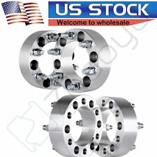 "(4) 2"" 50mm Thick 6x5.5 Wheel Spacers Fit Chevy Silverado 1500 Tahoe Suburban"