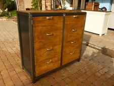Buffet 2 portes meuble  industriel loft tendance vintage bois et mètal