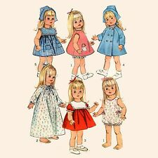 "Vintage UNCUT Pattern SIMPLICITY 6768 CLOTHES - 18"" TODDLER DOLL Susie Sunshine"
