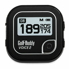 Golf Buddy Voice 2 Talking GPS Range Finder Watch Clip-On Black with Belt Clip
