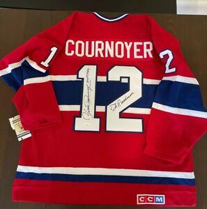 "Yvan Cournoyer Signed Montreal L Canadien ""The Roadrunner"" CCM Jersey COA JSA"