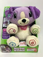 My Pal Violet Leapfrog Interactive Plush Dog Puppy Personalize Activities Songs