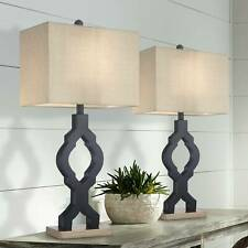 Modern Table Lamps Set of 2 Classic Moroccan Black for...