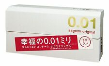 Sagami Original 001 Ultra Thin male Condom 0.01 mm  5 Pcs Counts Made in Japan
