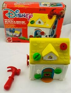 1990 Mickey's Build A House by Mattel in Very Good Condition FREE SHIPPING