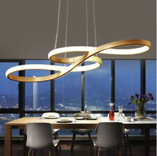 58W Modern LED Chandelier Music Notes Curve Pendant Light Restaurant Cafe Bar