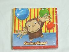 CURIOUS GEORGE   16- PAPER LUNCH NAPKINS-  PARTY SUPPLIES