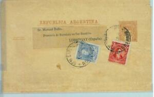 94023 - ARGENTINA - POSTAL HISTORY - STATIONERY  WRAPPER + franking to SPAIN