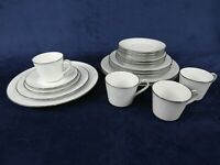 Noritake Ravel #2213 Dinner Salad Bread Plate Cup Saucer 20 Piece 4 Settings