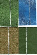 # 8 Sheets Grass +Water+ Ground Embossed Bumpy 20X28Cm Each 1/35
