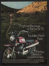 1969 HARLEY-DAVIDSON RAPIDO 125cc Red Motorcycle - Dirt Bike - VINTAGE AD