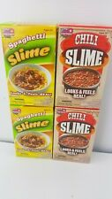 Lot of 4 Slime Factory Slime Food Chili Slime & Spaghetti Slime New Factory Seal