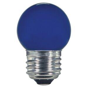 1.2w S11 LED 120v Ceramic Blue E26 Medium base
